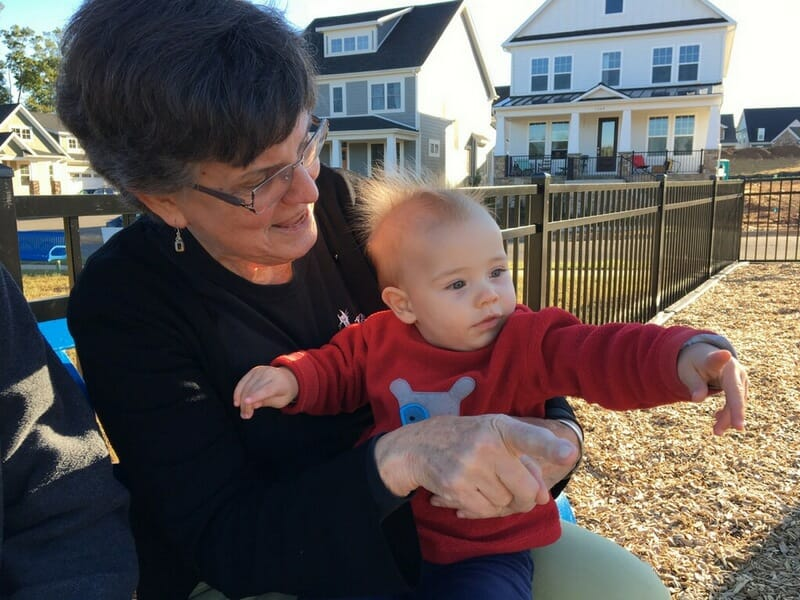 Oliver and Grandma at the playground