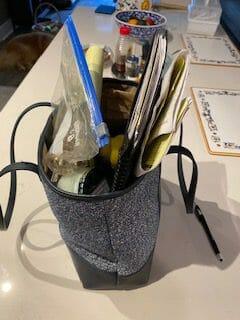 disorganized handbag